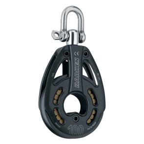 Harken 100 MM BLACK MAGIC SINGLE PULLEY - SWIVEL