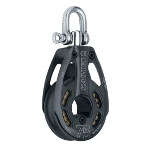 Harken 75 MM BLACK MAGIC SINGLE PULLEY - SWIVEL